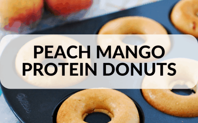 Quick and Easy Peach Mango Protein Donuts