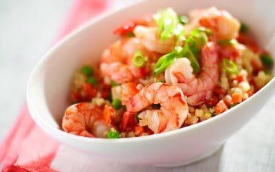 Shrimp and Cauliflower Fried Rice