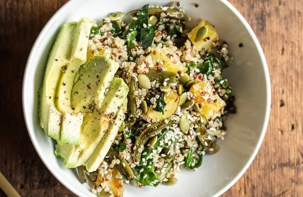 Warm and Roasted Winter Quinoa Bowl