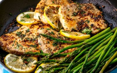 Garlicky Lemon Mahi Mahi & Veggies